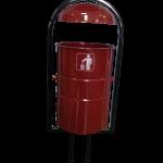 Урна для улиц с пепельницей 20 литров, бордовая