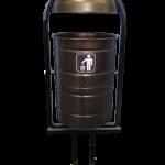 Урна уличная 20 литров, бронза