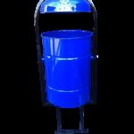 Урна для улиц 30 литров, синяя