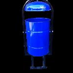 Урна для улиц с пепельницей, 20 литров, синяя