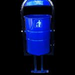 Урна уличная 20 литров, синяя