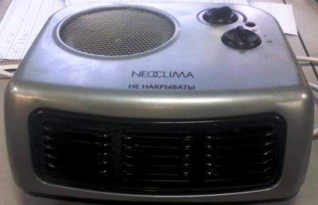 Тепловентилятор спиральный NHS-0,1 мощн.750/1500Вт