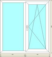 Пластиковое окно 1300x1400
