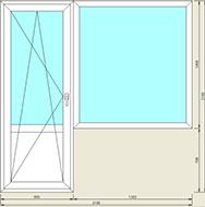 Балконный блок 2100x2100