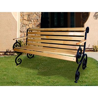Скамейка французкая лоза с подлокотниками