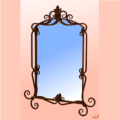 Зеркало кованое 640x1000