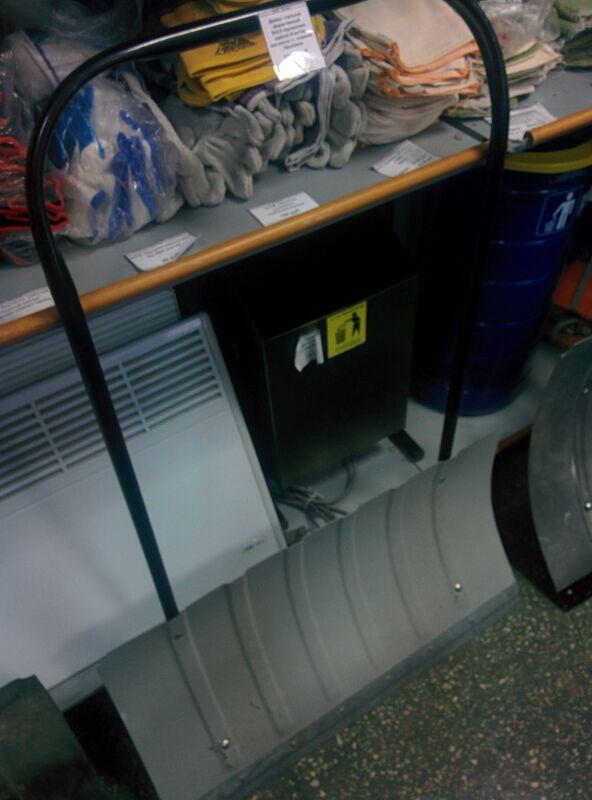 Стальной движок для уборки снега 750x420