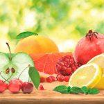 Фартук на кухню с рисунком фруктов