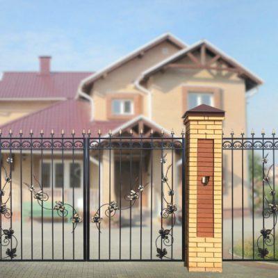 Ворота дачные прямые лоза 2