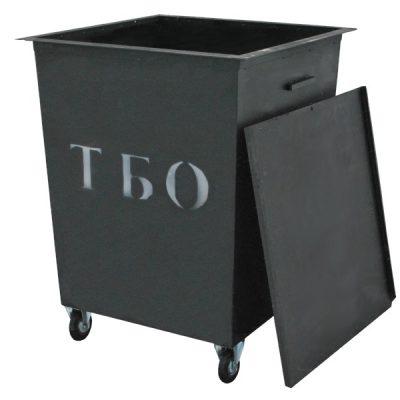Контейнер ТБО на колесах, 0.75м.куб. (930х930х1250)