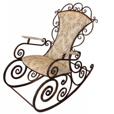 Кованая Кресло-качалка Ажур (1190х680х1190)