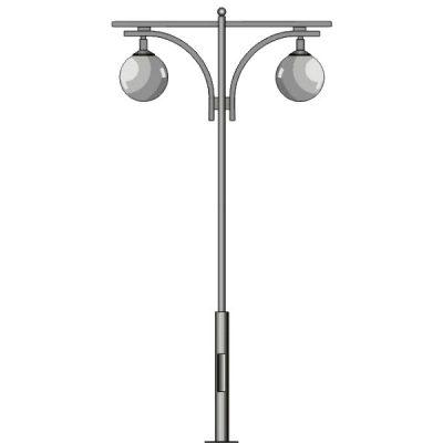 Столб фонарный №3, без фонаря L=3м (3520х1160х200)