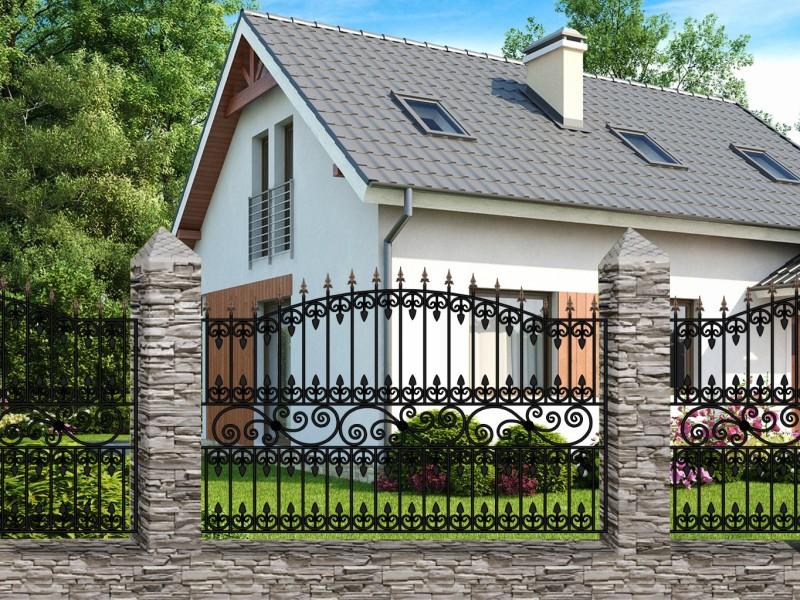 Кованый забор Забор №14